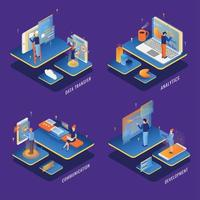 Users Interfaces Concept Set Vector Illustration