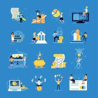 Accounting Doodle Icons Set Vector Illustration