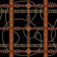 Belt Seamless Pattern Vector Illustration