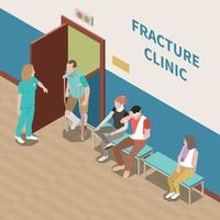 Injured People Isometric Illustration Vector Illustration