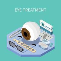 Eye Treatment Isometric Composition Vector Illustration