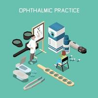 Ophthalmology Isometric Composition Vector Illustration