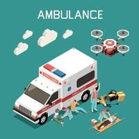 First Aid Isometric Illustration Vector Illustration