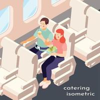 Catering In Plane Isometric Composition Vector Illustration