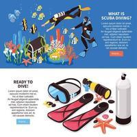 Scuba Diving Banners Vector Illustration