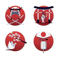 Japan 2x2 Design Concept Vector Illustration