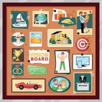 Vision Board Frame Set Vector Illustration