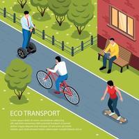 Eco Transport Isometric Illustration Vector Illustration