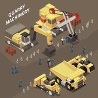 Mining Machinery Illustration Vector Illustration