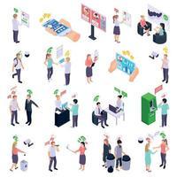 Ilustración de vector de colección de iconos de calificación social