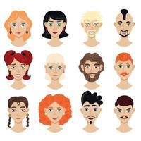 Portrait Face Creator Set Vector Illustration