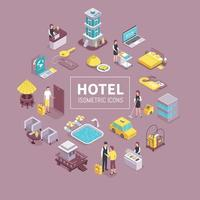 Hotel Isometric Composition Vector Illustration