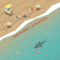 Beach Lifeguards Illustration Vector Illustration