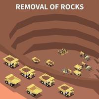 Mining Machinery Isometric Illustration Vector Illustration