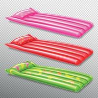 Inflatable Swimming Air Mattresses Vector Illustration