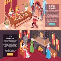 Ilustración de vector de banners horizontales de castillo real