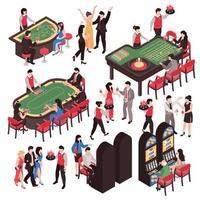 Casino Constructor Set Vector Illustration