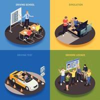 Driving Course Design Concept Vector Illustration