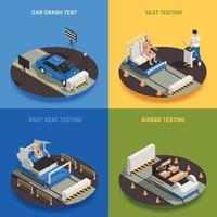 Car Safery Design Concept Vector Illustration