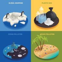 Sea Pollution Design Concept Vector Illustration