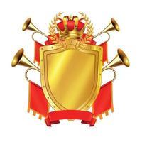 Heraldic Realistic Design Concept Vector Illustration