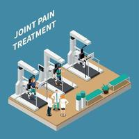 Joint Pain Treatment Isometric Composition Vector Illustration
