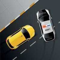 Cars Police Custody Composition Vector Illustration