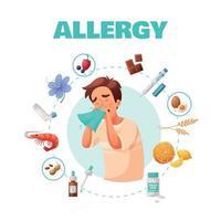 Ilustración de vector de ilustración de concepto de alergia