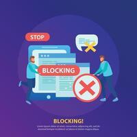 Internet Blocking Background Vector Illustration
