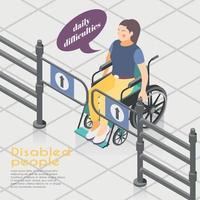 Ilustración de vector al aire libre de personas discapacitadas
