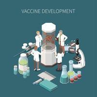 Vaccine Development Design Concept Vector Illustration