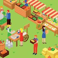 Farm Fair Market Composition Vector Illustration