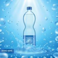 Water Bottle Advertising Background Vector Illustration