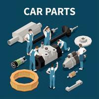 Car Parts Concept Vector Illustration