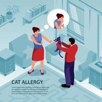 Isometric Allergy Illustration Vector Illustration