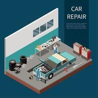 Car Repair Concept Vector Illustration