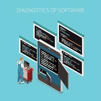 Software Diagnostics Concept Vector Illustration