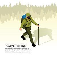 Ilustración de vector de ilustración isométrica de camping