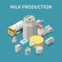 Dairy Production Concept Vector Illustration