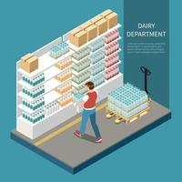 Dairy Department Concept Vector Illustration