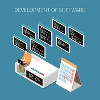 Programming Operations Concept Vector Illustration