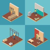 Home Repair  Concept Icons Set Vector Illustration