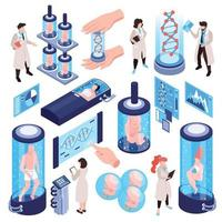 DNA Research Icon Set Vector Illustration