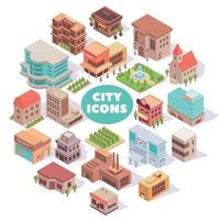 City Icons Round Composition Vector Illustration