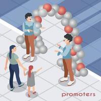 Promoters Isometric Illustration Vector Illustration