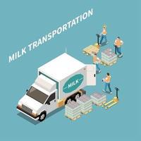 Milk Transportation Concept Vector Illustration