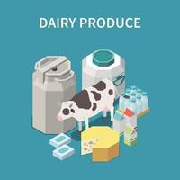 Dairy Produce Concept Vector Illustration