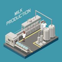 Milk Factory Concept Vector Illustration