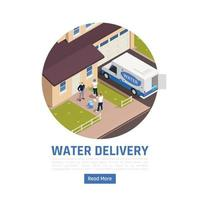 Home Water Delivery Background Vector Illustration