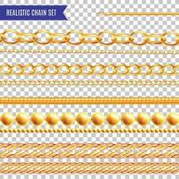 Chains Realistic Set Vector Illustration